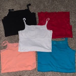 6 Cami tops (all different colors